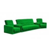 Набор диван Милан и кресла зеленый 120