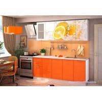 Кухня с фотопечатью Апельсин