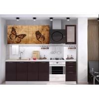 Кухня с фотопечатью Бабочки мдф 1.6
