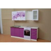 """Кухня 1,6 м. с фотопечатью """"Орхидея"""""""