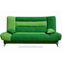 Диван Лодочка велюр зеленый