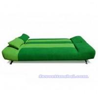 Лодочка велюр зеленый