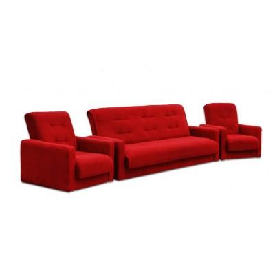 Набор диван Милан и 2 кресла красный