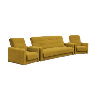 Набор диван Милан и 2 кресла золотой