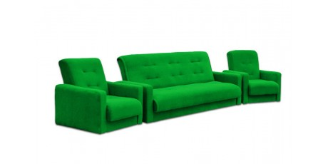 Комплект мягкой мебели диван и два кресла