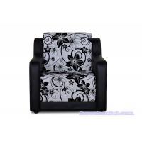 Кресло кровать «Мюнхен» (рогожка, черный кожзам)