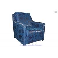 Кресло кровать «Ленинград» (синие цветы)