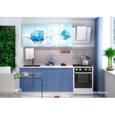 Кухня с фотопечатью Лед