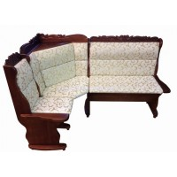 Угловой диван Себастьян с баром и резьбой
